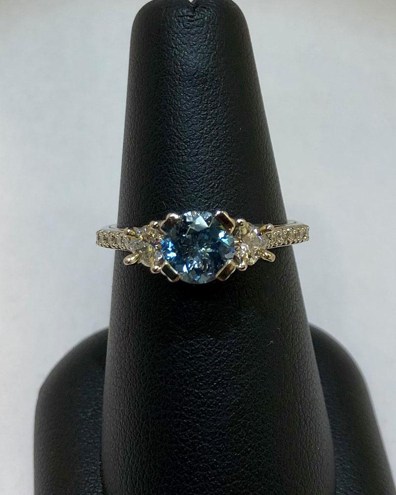 White Gold, Diamonds & Aquamarine